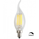 LED FLAMENT Spuldze E14 (C35) / VISIONAL LED BULB - 6W Filament /  720lm / 3000 K (SILTA balta)  / аr spilgtuma regulešanu / Dimmable 4751027177591 :: E14